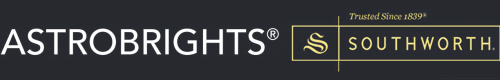 Astrobrights and Southworth brands